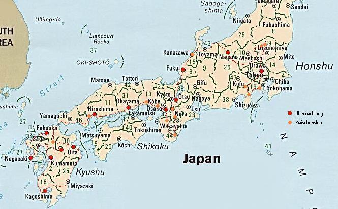 Japan Karte.Menu